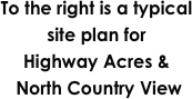 To the right is a typical site plan for 